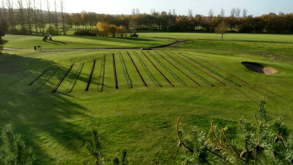 Golf course greens drainage