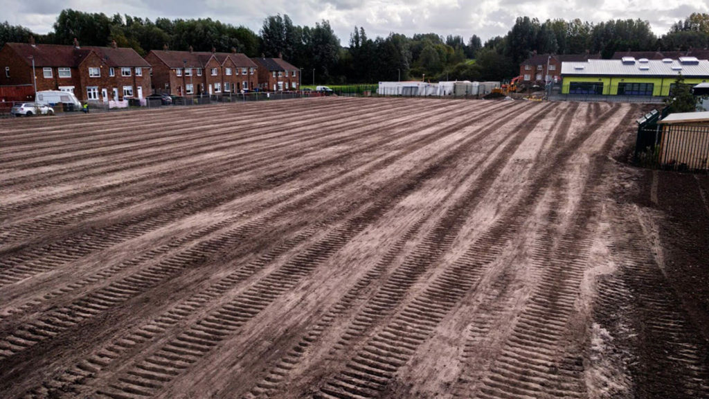 Construction of Sports Turf Pitch